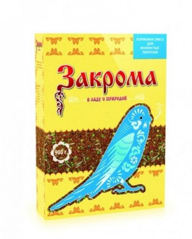 [16.501]  ЗАКРОМА корм для волнистых попугаев 900гр