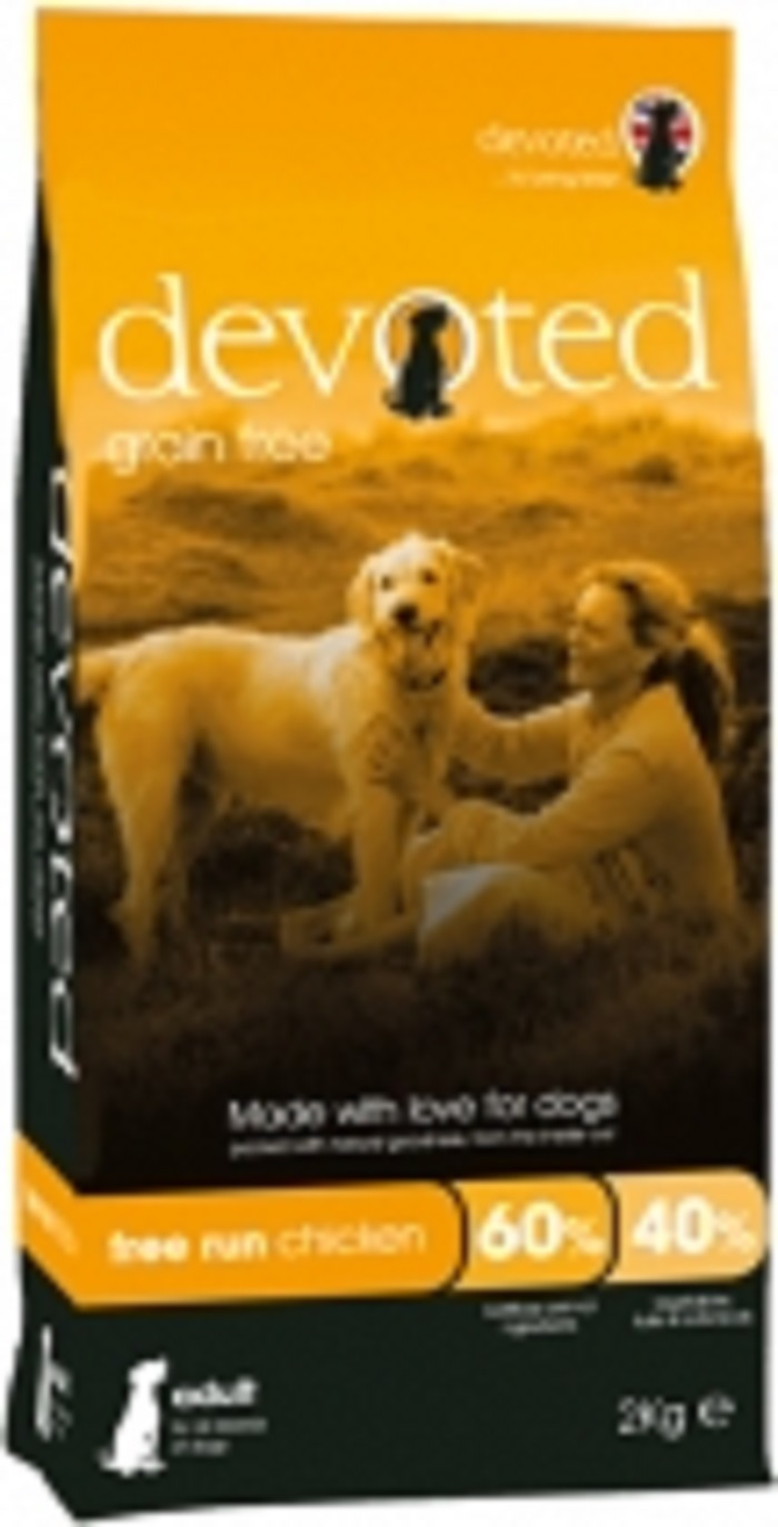 Devoted 40006 корм беззерновой для собак с Курицей свободного выгула 2кг