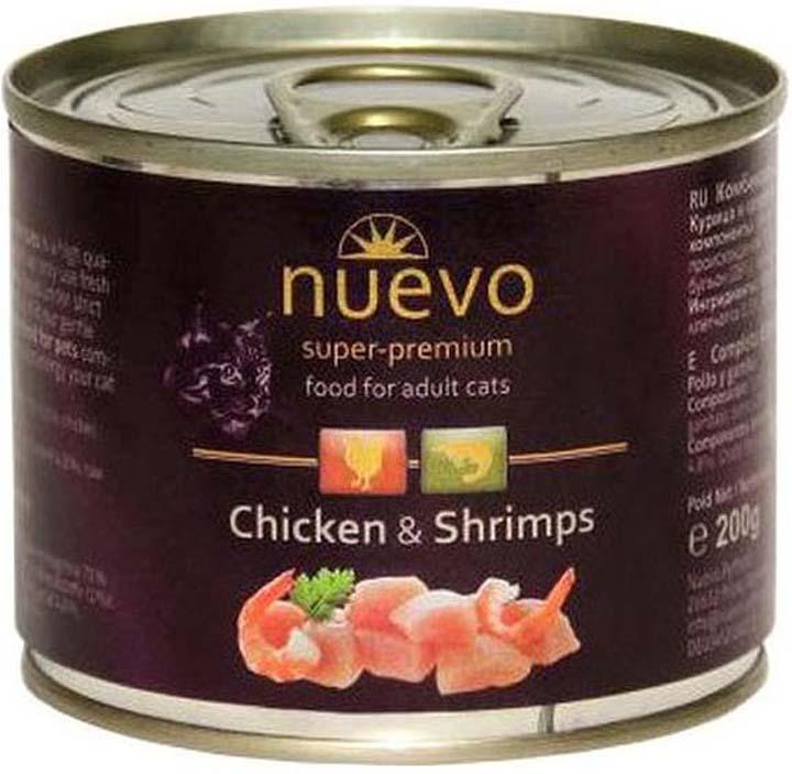 конс.Nuevo (Нуэво) 200г дкошек курица с креветками (16)