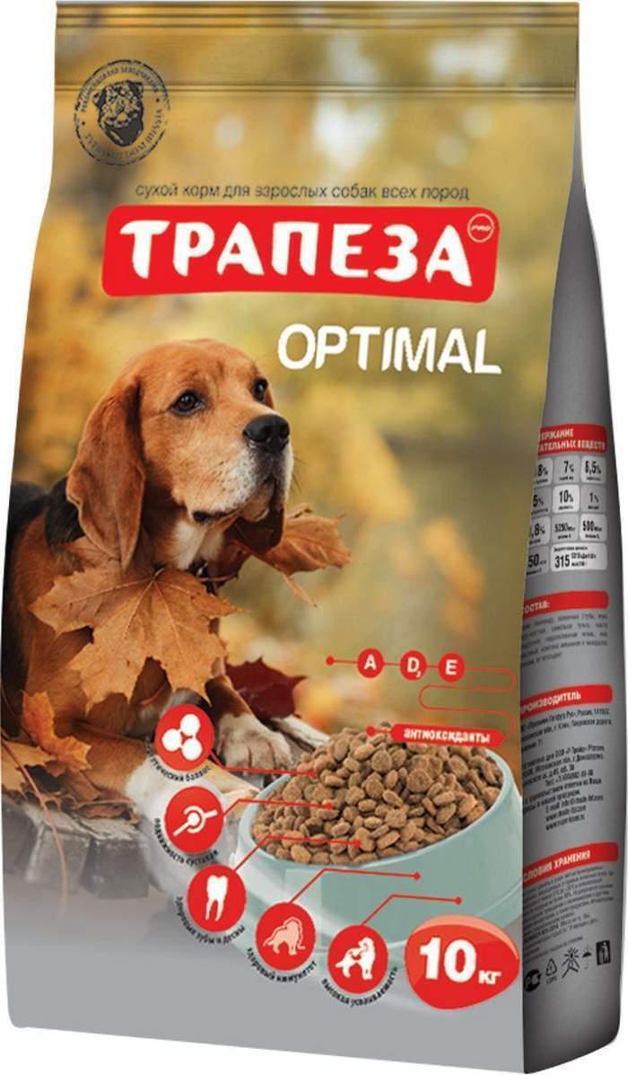 Трапеза сух длЯ собак Оптималь 10 кг