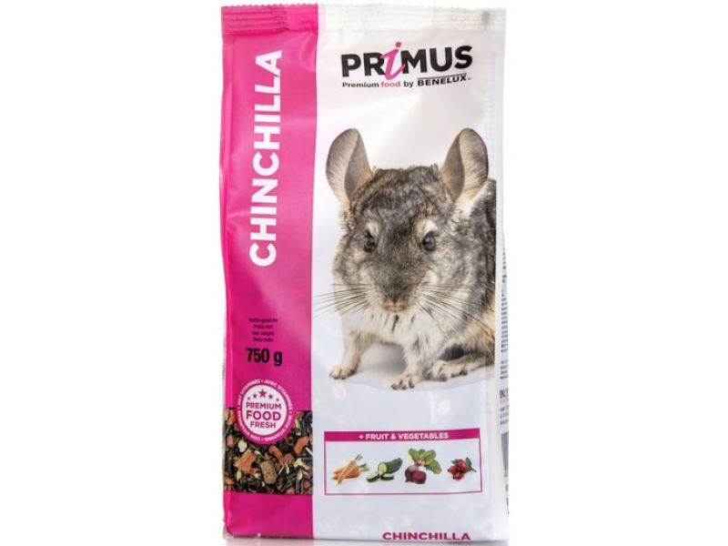 Benelux корма Корм для шиншилл Премиум (Primus chinchilla Premium) 32553 (PRIMUS CHINCHILLA 750G) 32553, 0,750 кг, 30013