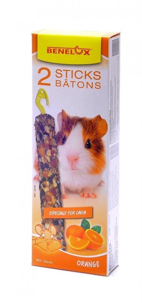 Benelux корма ВИА Лакомые палочки для морских свинок с апельсином 2 шт (Seedsticks guinea pig Oorange X 2 pcs) 36246, 0,130 кг, 31508