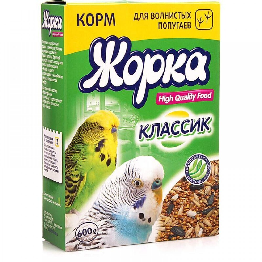 Жорка HQF корм для волнистых попугаев классик, 0,600 кг, 31279