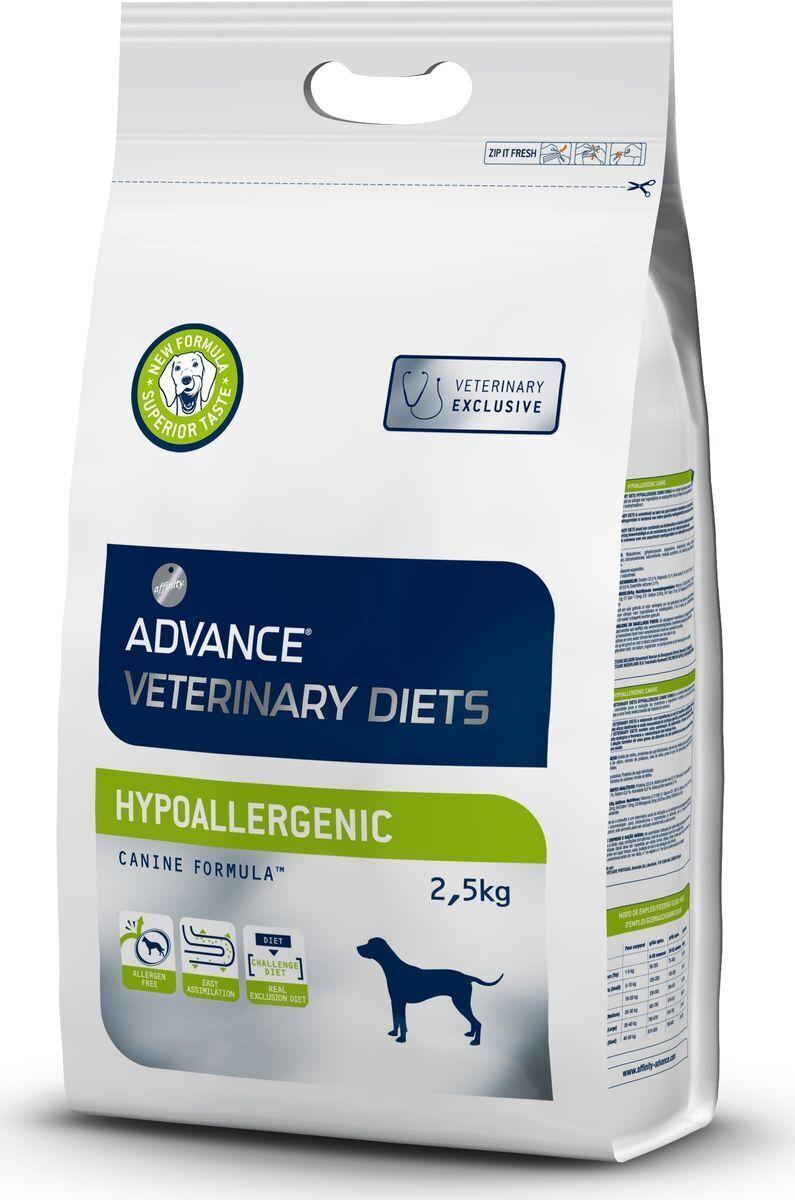 Advance корм для взрослых собак всех пород с проблемами ЖКТ и пищевыми аллергиями, гипоаллергенный 2,5 кг