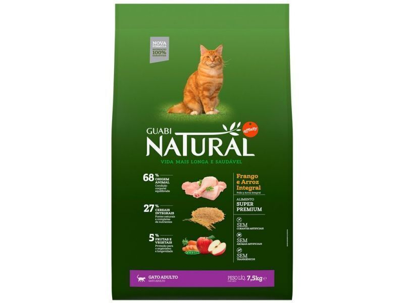 GUABI NATURAL сухой корм дкошек 7,5 кг.Цыпленоккор.рис