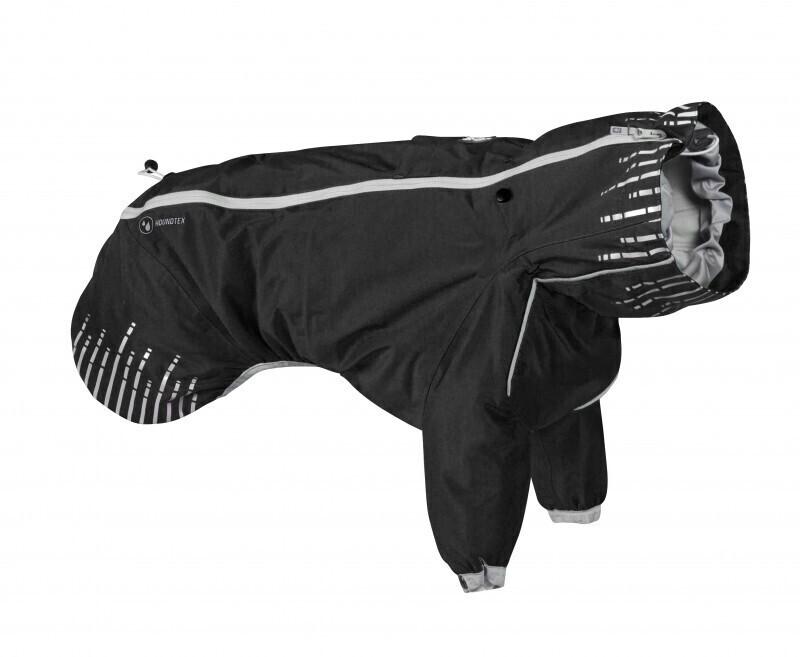 933051 Плащ Hurtta Rain Blocker с передн.лапами,размер  25(длина спины 25см),Чёрный