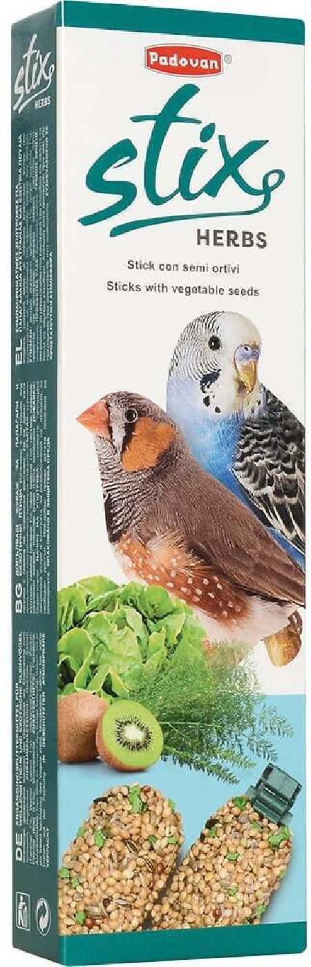 Padovan Stix Herbs палочки для попугаев и экзотов, с витамином С 60 гр