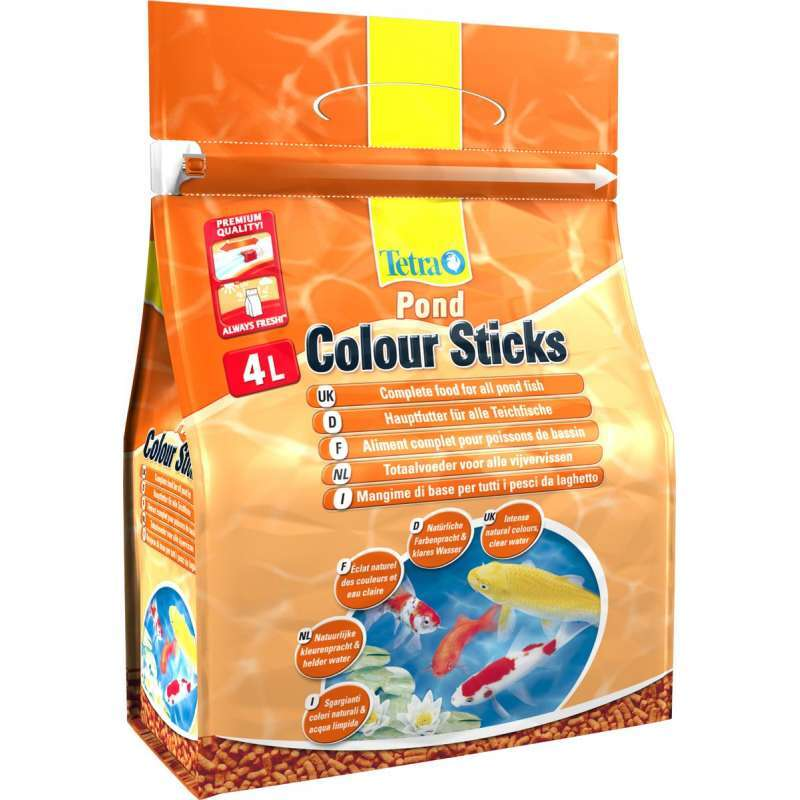Корм для прудовых рыб Tetra Pond Colour Sticks 4 л, палочки для усиления окраса