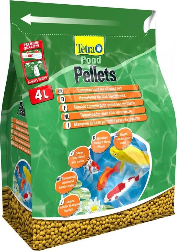 Корм для прудовых рыб Tetra Pond Pellets 4 л,  шарики