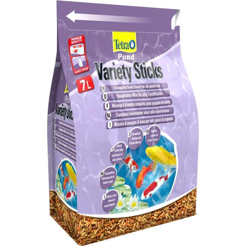 Корм для прудовых рыб Tetra Pond Variety Sticks 7 л, смесь из 3-х видов палочек