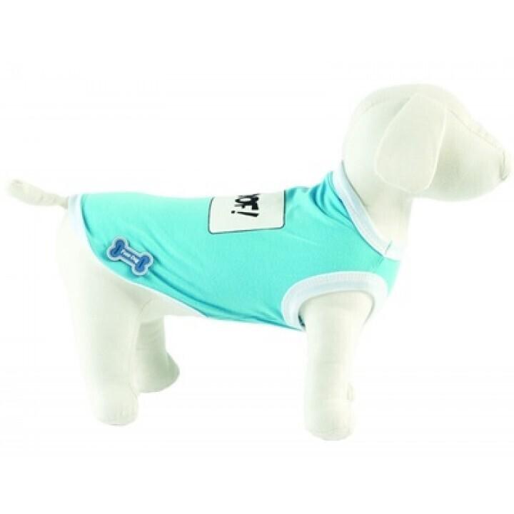 Ferribiella одежда Футболка Woof! (голубой) на длину 25 см (T-SHIRT WOOF AZZU) ABF193/25-AZ, 0,250 кг, 13563