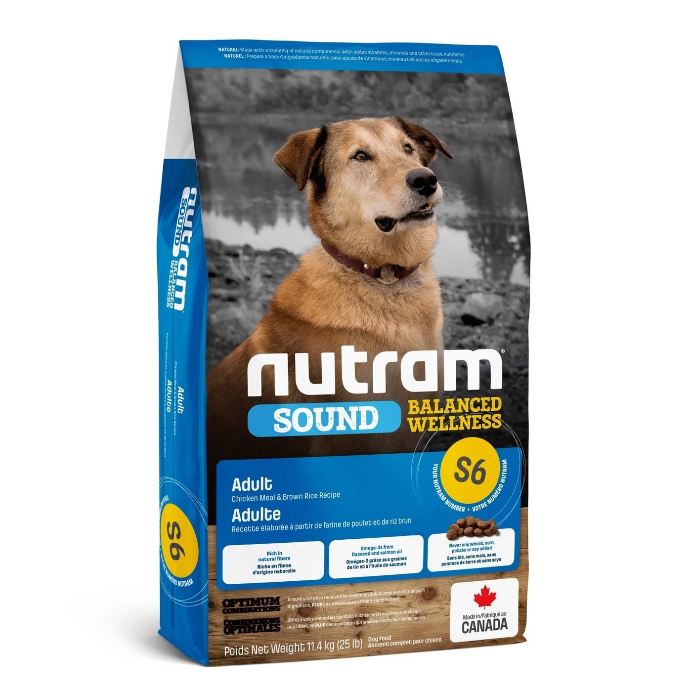 Nutram корм для взрослых собак всех пород 11,4 кг
