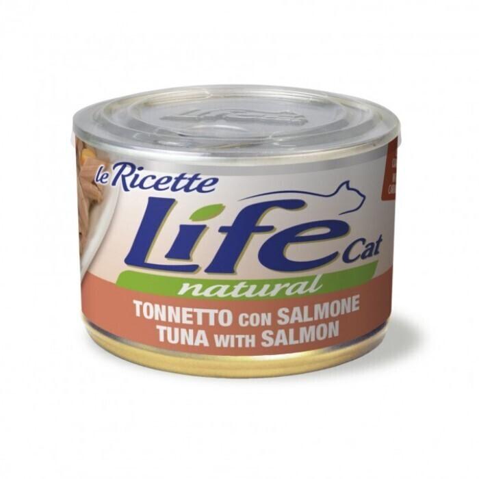 [94451]      Lifecat tuna with salmon 85g - консервы для кошек тунец с лососем в бульоне 85 гр. 1/24, 94451