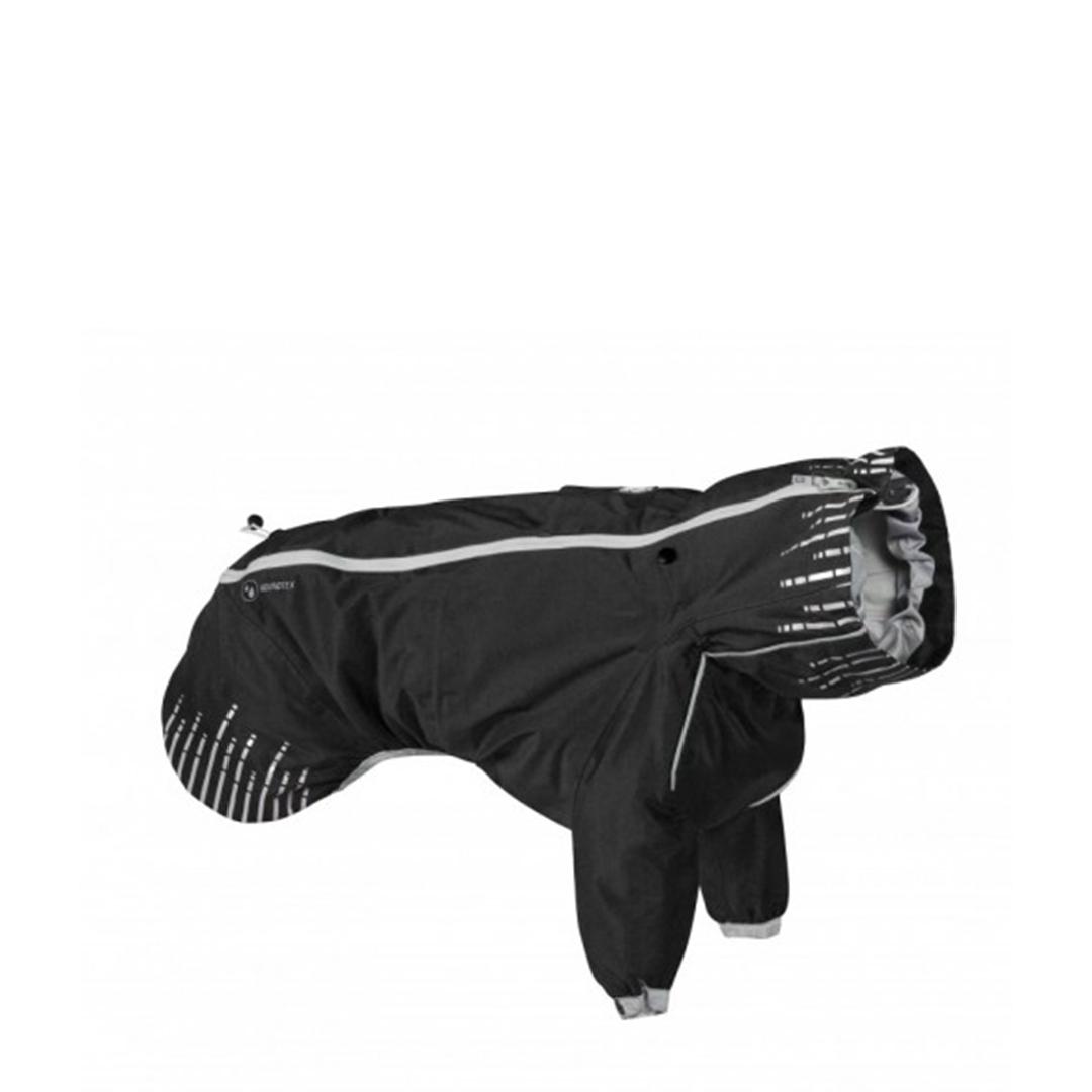 933059 Плащ Hurtta Rain Blocker с передн.лапами,размер  65(длина спины 65см),Чёрный