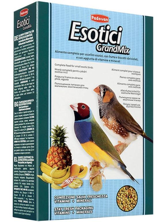 Padovan Esotici основной корм для экзотических птиц 400 гр
