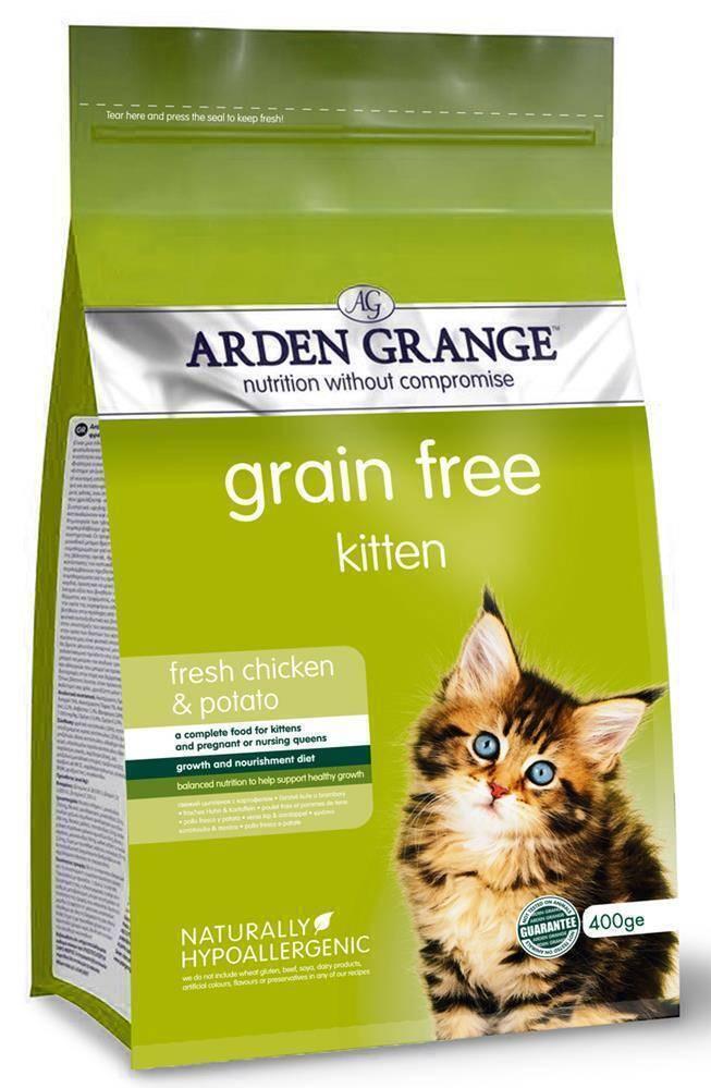 Arden Grange корм для котят всех пород, беззерновой, курица 400 гр