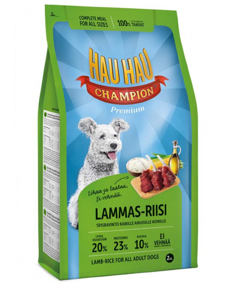 Hau-Hau Champion Lamb- Rice Adult dog 2кг корм для собак всех пород ягненок с рисом 16150