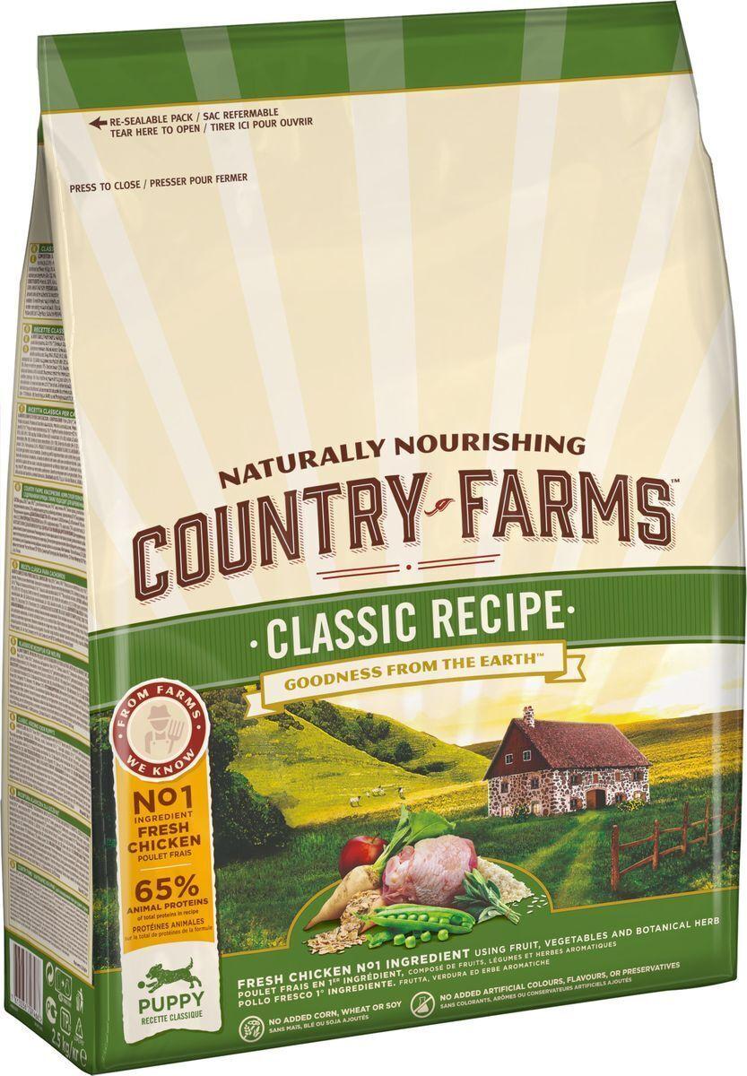 Country Farms корм для щенков всех пород, классический, курица 2,5 кг