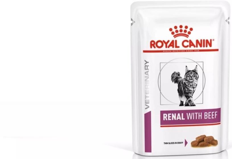 RC диета дк конс. ву 85гр Фелин Ренал с говядиной 0496