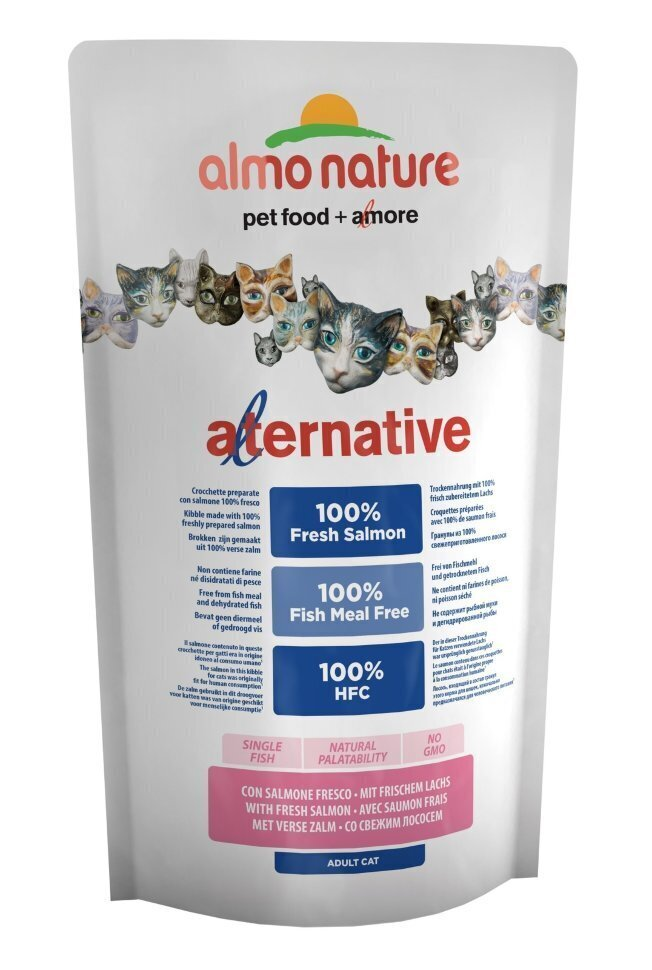Almo Nature Alternative ВИА Корм со свежим лососем (55 % мяса) для кошек (Alternative Salmon and Rice) 7853, 0,750 кг, 20632