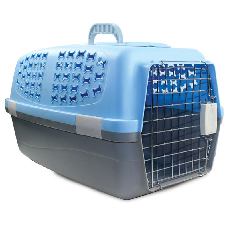 3661 Переноска для животных М, голубая,  550*350*320мм