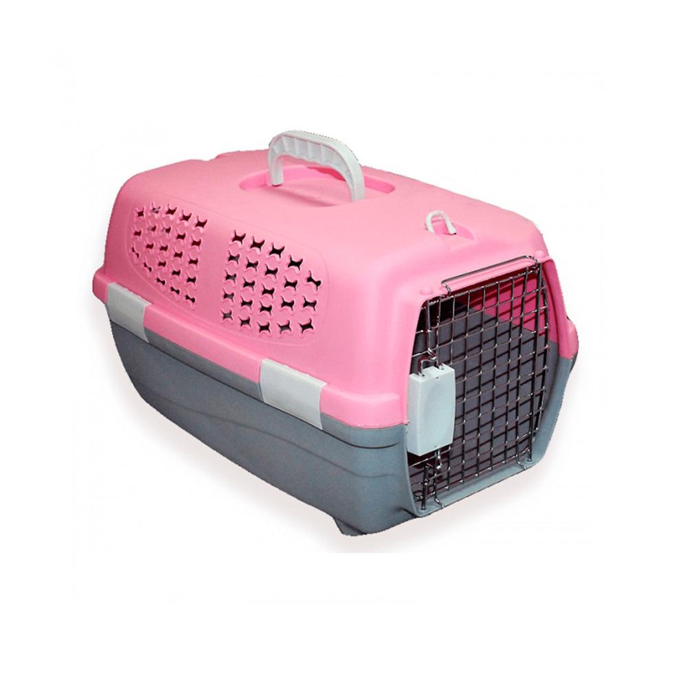 3661 Переноска для животных М, розовая,  550*350*320мм
