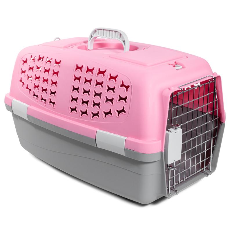 3662 Переноска для животных L, розовая,  600*390*350мм