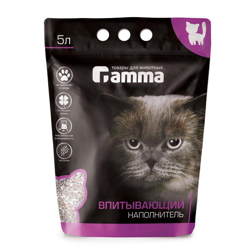 Gamma впитывающий наполнитель для кошачьего туалета 5 л