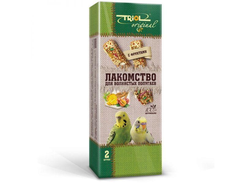 Лакомство для волнистых попугаев палочки с фруктами TRiOL original 2шт,83г