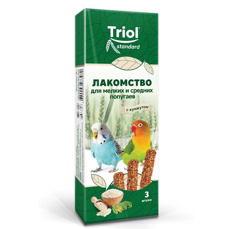 Палочки для мелких и средних попугаев с КУНЖУТОМ Триол standart, 3шт,115г