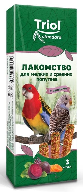 Палочки для мелких и средних попугаев с ОВОЩАМИ Триол standart, 3шт,115г