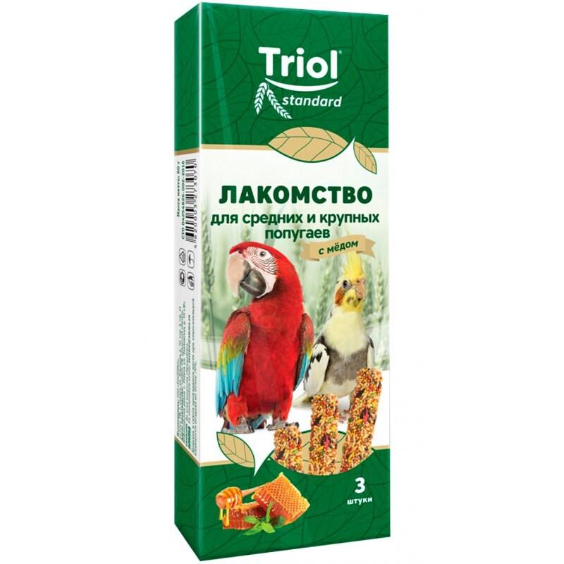 Палочки для средних и крупных попугаев с МЁДОМ Триол standart, 3шт,115г