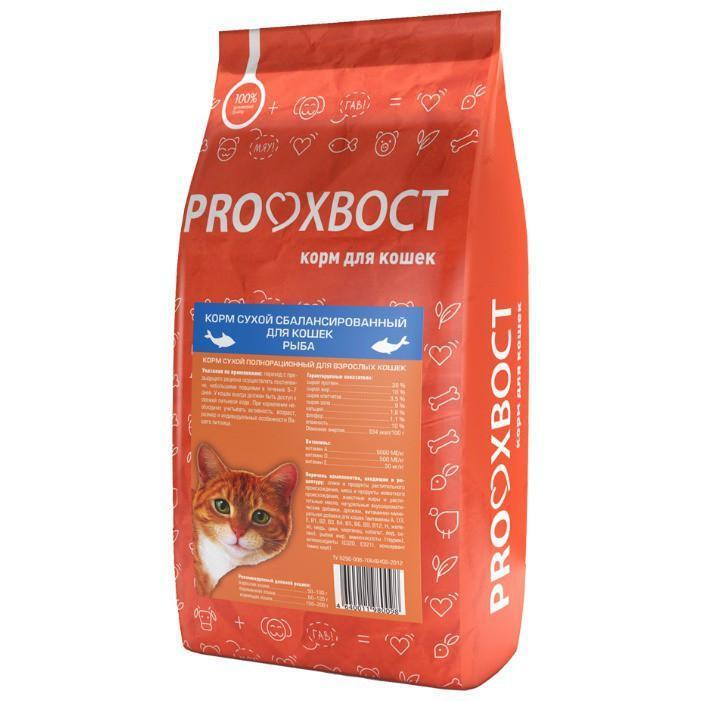 ProХвост корм для взрослых кошек всех пород, рыба 10 кг