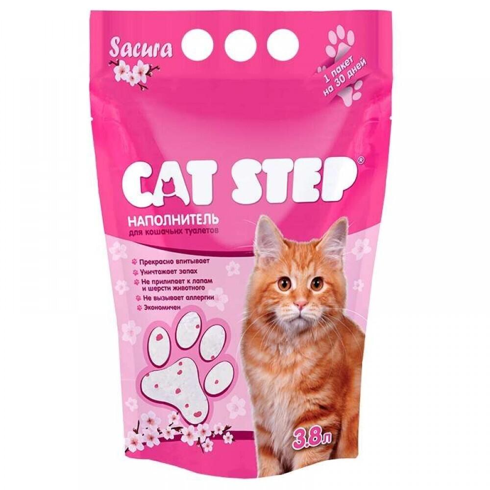 Cat Step Силикагель PINK 3,8л наполнитель для кошек