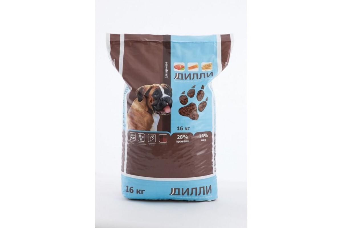 Корм для собак Дилли для щенков 16 кг