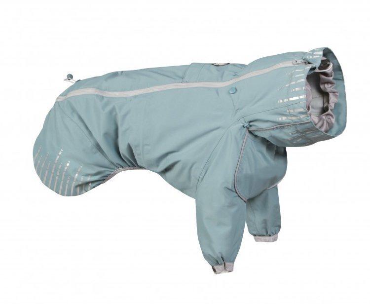 933079 Плащ Hurtta Rain Blocker с передн.лапами,размер  65(длина спины 65см),Бирюзовый