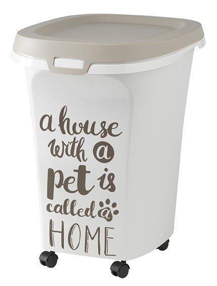 Moderna Pet Wisdom контейнер для корма передвижной, серый 38 л