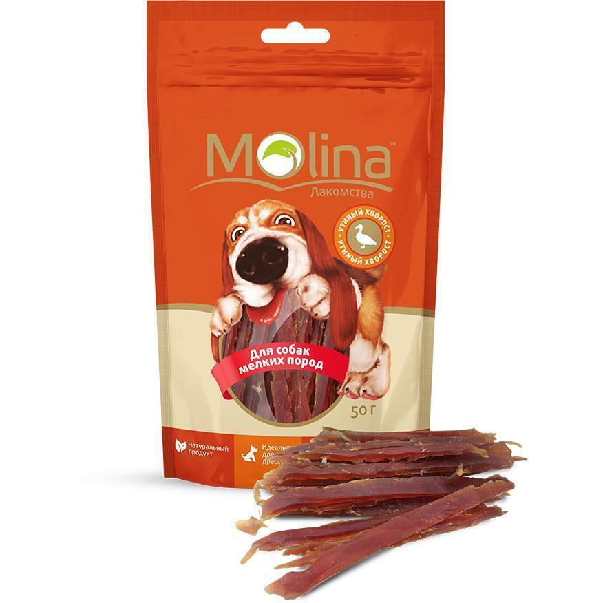Molina лакомство для собак малых пород, утиный хворост 50 гр