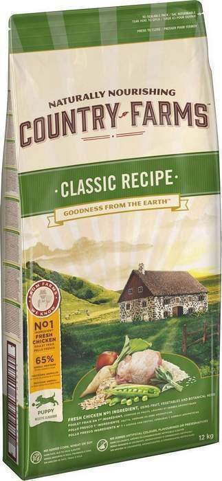 Country Farms Сухой корм для щенков с высоким содержанием курицы 76663, 12,000 кг