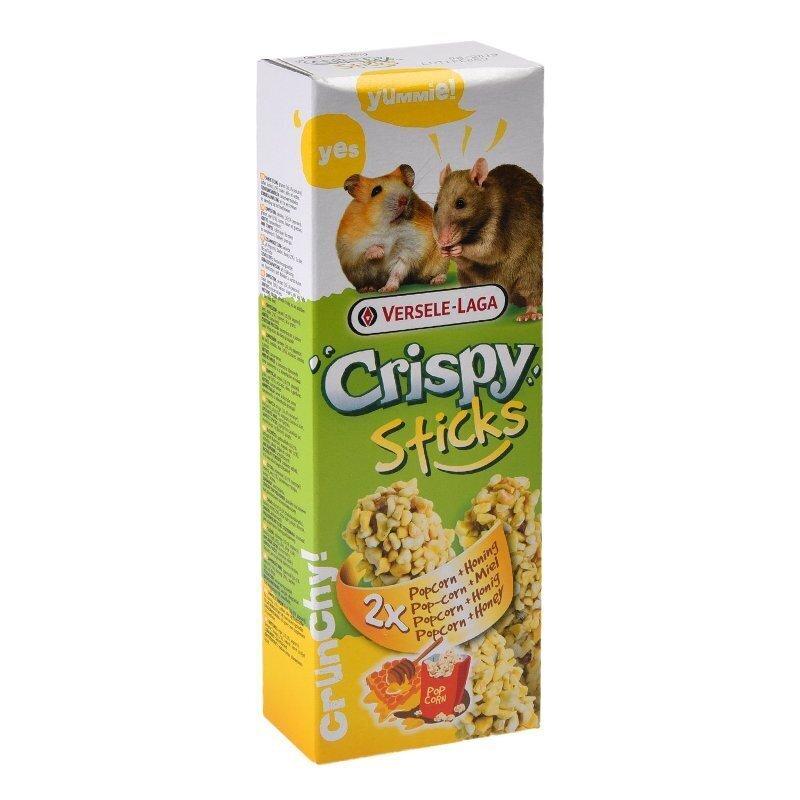 Versele-Laga Crispy палочки для хомяков и крыс, с попкорном и медом 100 гр