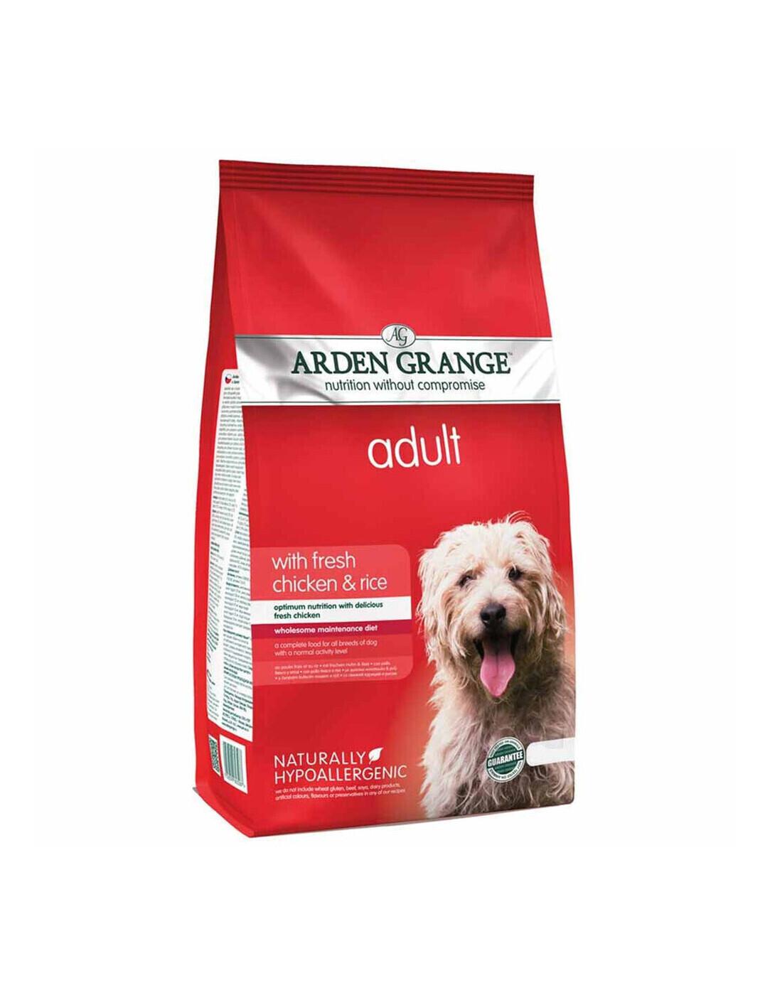 Arden Grange корм для взрослых собак всех пород, курица и рис 2 кг
