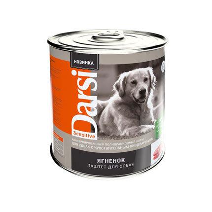 Дарси Консервы (паштет)длЯ собак обак с чувствительным пищеварением  Ягненок, 850г