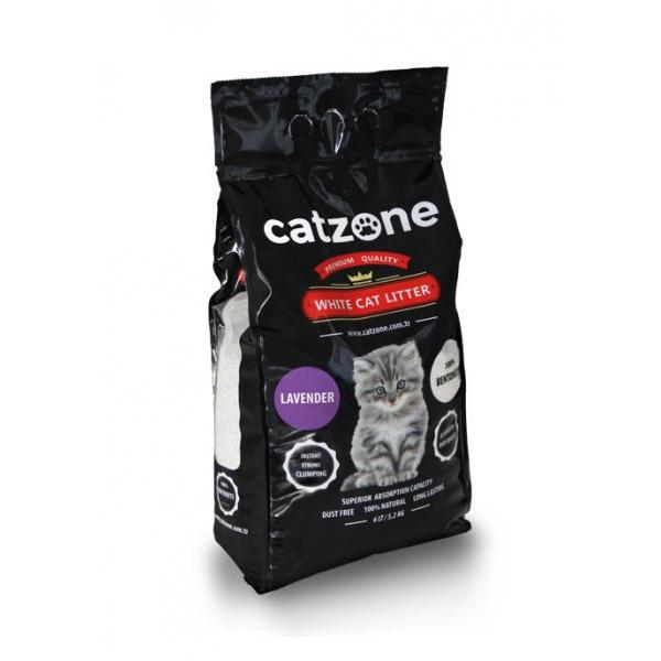 Catzone комкующийся наполнитель для кошачьих туалетов, запах лаванды 10 кг