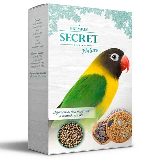 Secret natura зерносмесь для Попугаев в период Линьки 500гр