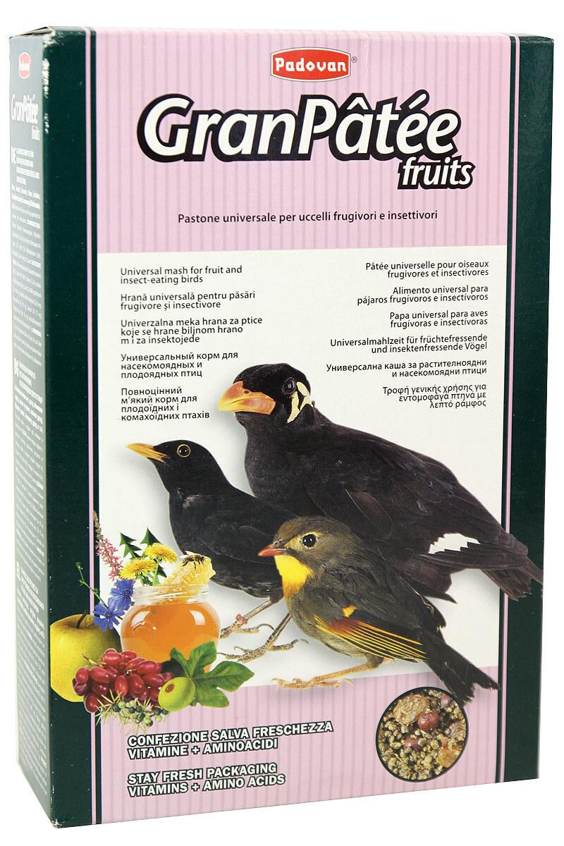 Падован 01920 GranPatee fruits Корм днасекомоядных птиц с фруктами 1кг