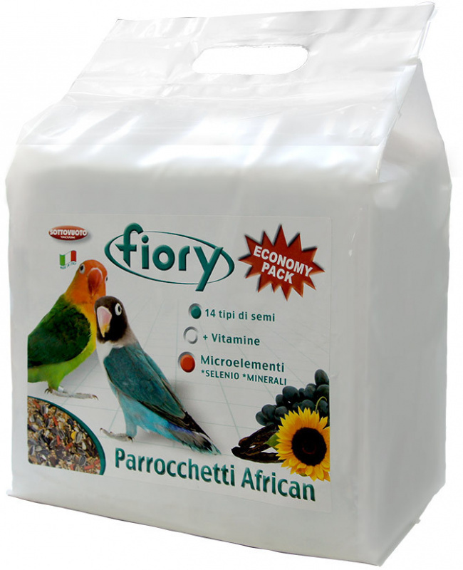 Fiory Parrocchetti African корм для средних попугаев 3,2 кг
