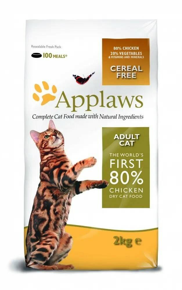 Applaws корм для взрослых кошек всех пород, беззерновой, курица и овощи 2 кг
