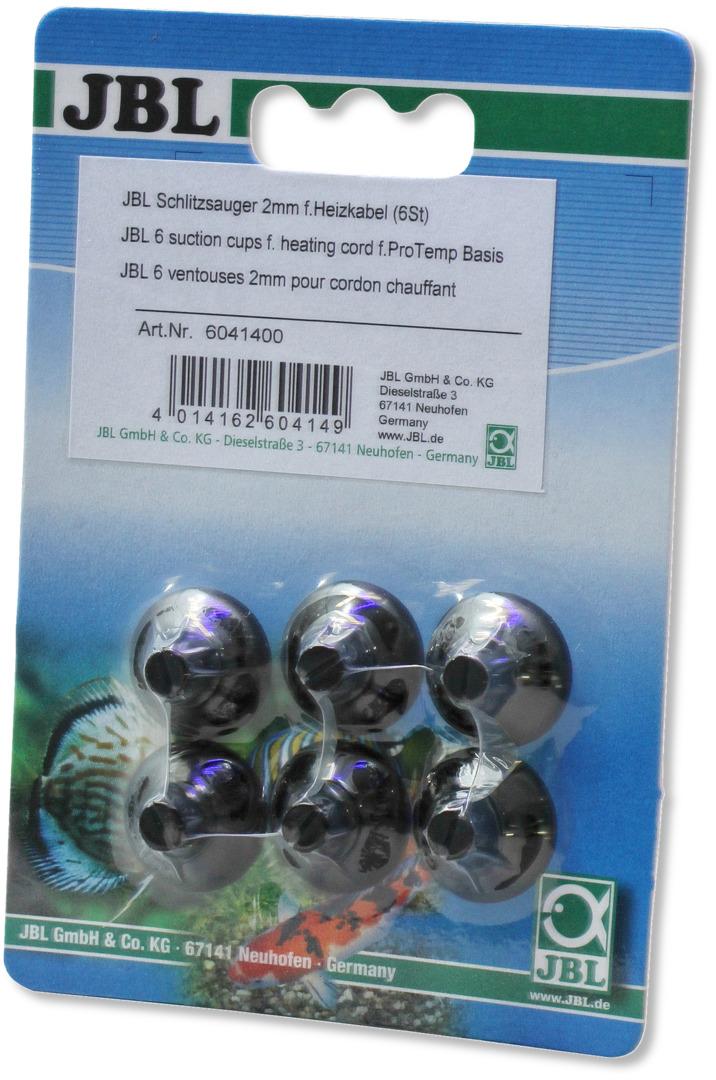 [282.6041400]  JBL Присоска д/крепления термокабеля диам. 2-4 мм в аквариумах и террариумах, 6 шт. (уп-24шт), 282.6041400