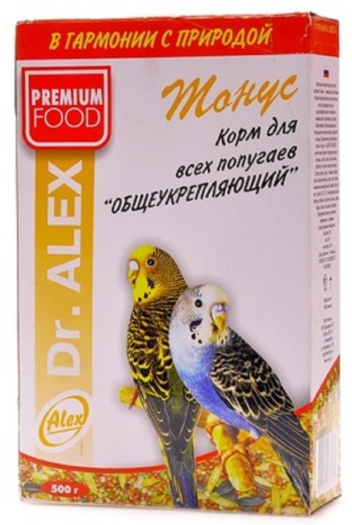 Dr.Alex ВИА Корм для волнистых попугаев Тонус, 0,500 кг, 45179