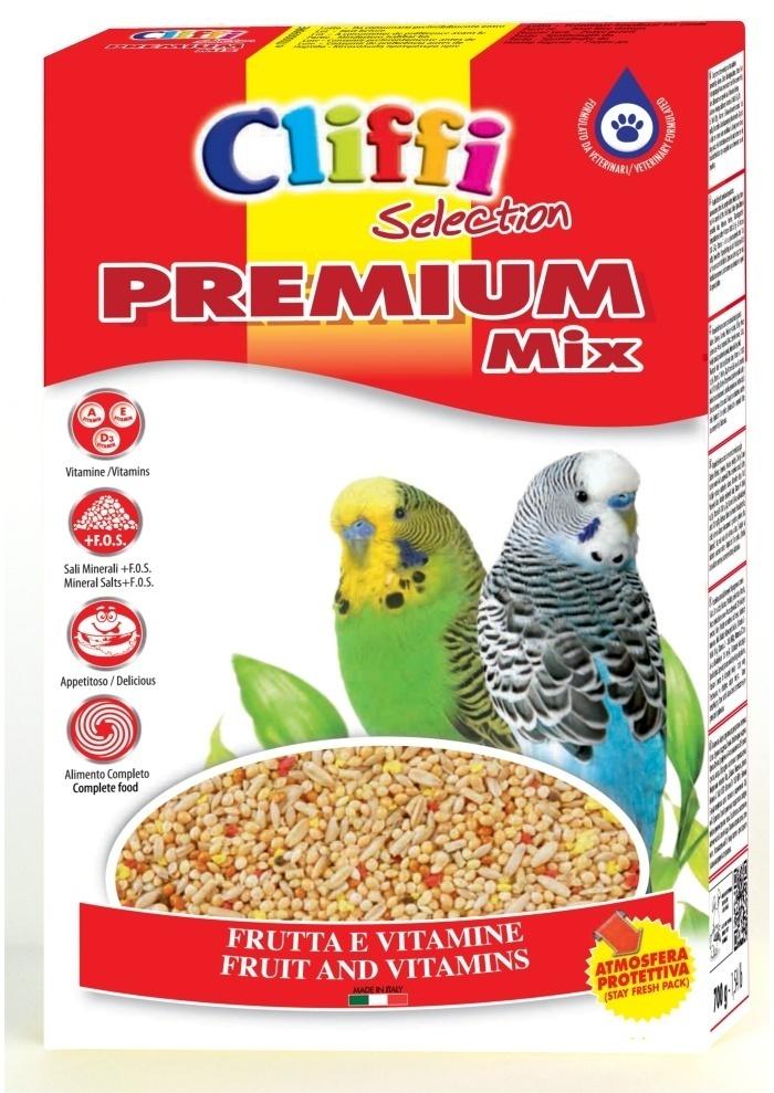 Cliffi (Италия) Для волнистых попугаев (Premium Mix Budgerigars) PCOA009, 0,800 кг, 40332